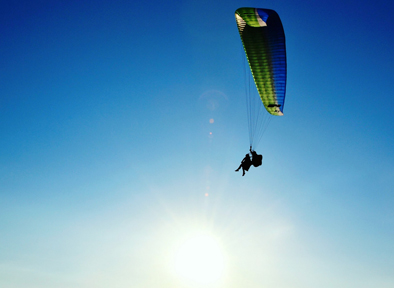 Volo in parapendio